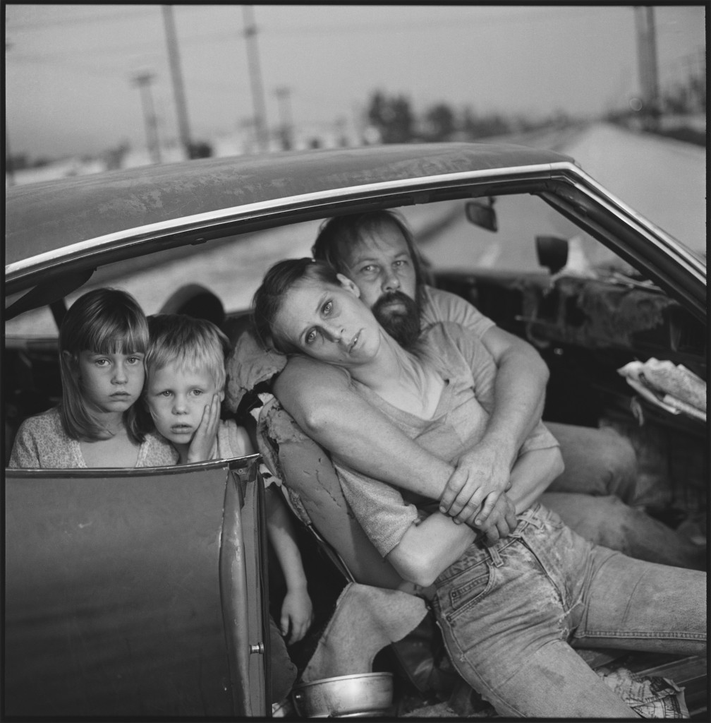 'The Damm Family in Their Car', 1987, by Mary Ellen Mark