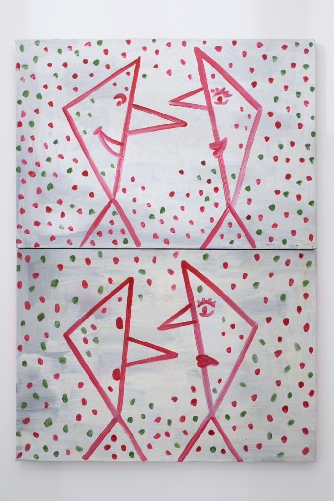 Helmut Middendorf, Talkshow, 1995, Acrylic on canvas