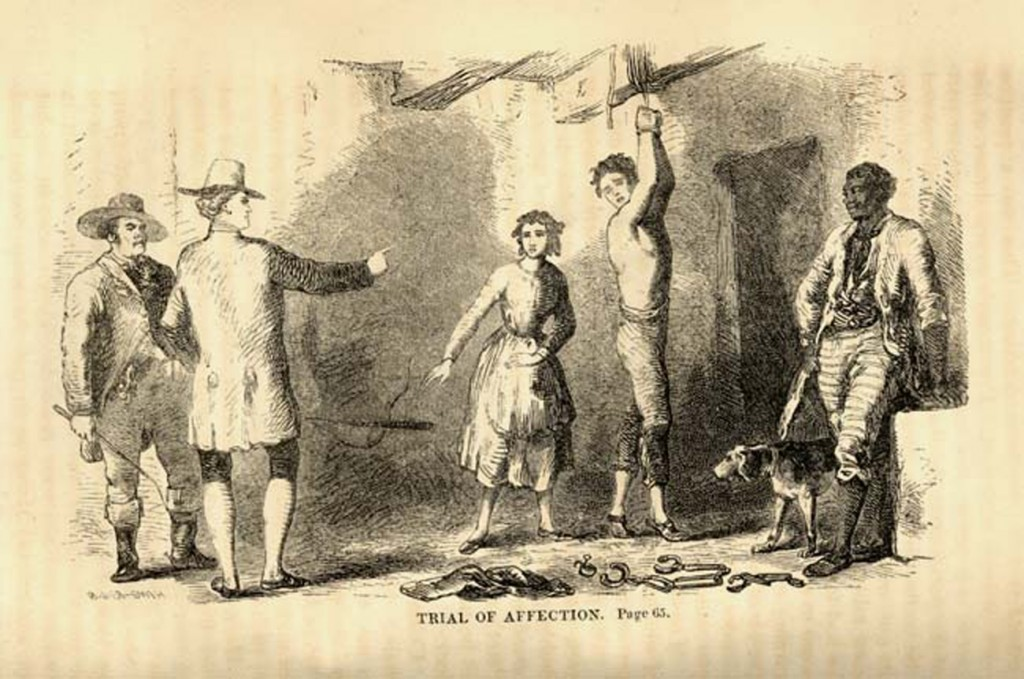 'The Trial of Affection', from the 1852 edition of 'The White Slave; or, Memoirs of a Fugitive', Published by Boston: Tappan and Whittemore, illustrator unknown
